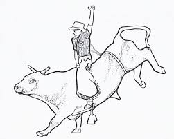 bull riding coloring pages 02 mason pinterest bull riding