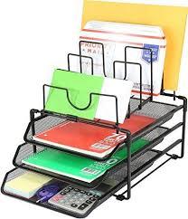 desk organizer mesh office desktop tray file metal paper holder