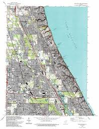 Chicago Il Map by Highland Park Topographic Map Il Usgs Topo Quad 42087b7
