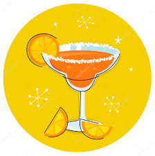 margarita clip art retro margarita drink or cocktail with citrus fruit u2014 stock vector