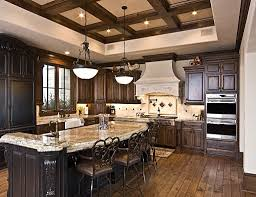 rustic kitchen island awesome rustic kitchen remodeling applying wooden flooring design