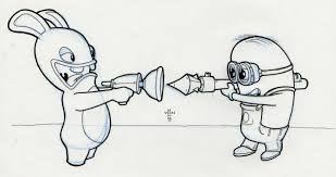 doodle 526 u2013 rabbids vs minions doodle a day