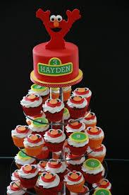 elmo cupcakes elmo cupcake tower mini cake party ideas elmo