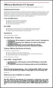 resume samples for electricians electrical engineer cover letter