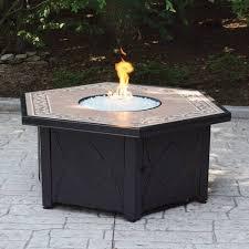 Lp Gas Firepit Hex Lp Gas Pit Bowl With Decorative Ceramic Tile Mantel
