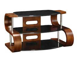 Tv Stands For Flat Screen Tvs Jual Furnishings Jf203 1100 Curved Wood Walnut Tv Stand 40 50