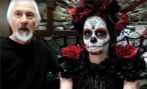 body painting halloween costumes day of the dead half face mask masquerade masks mega fancy dress