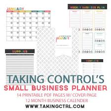 free small business planner organize your small business finances