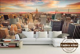 canap york personnalisé 3d moderne ville vue papier peint mural york lever