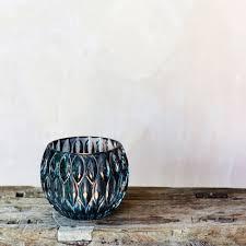 glass tea light holders blue glass tea light holders home accessories graham green