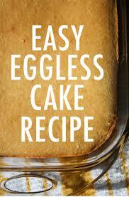 an easy eggless vanilla cake recipe