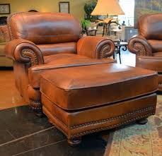 Best Leather Chair And Ottoman Chair American Made Tufted Leather Chair And A Half Cl4440