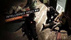 intelligence annex 14 stolen signal the division zone