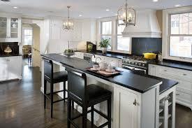 Overhead Kitchen Lights by Granite Countertop White Shiny Kitchen Cabinets Backsplash