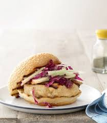 Miso Glazed Chicken Burgers with Cabbage Apple Slaw Recipe