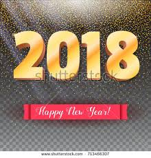 congratulation poster happy new year 2018 volumetric numbers stock vector 726528820