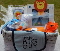 premium little big guy baby boy gift basket ready to ship lion