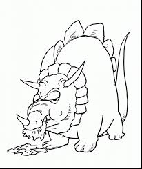 astounding herbivore dinosaur coloring pages with triceratops