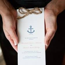 nautical wedding programs tying the knot wedding ceremony kit infinity knot alternative