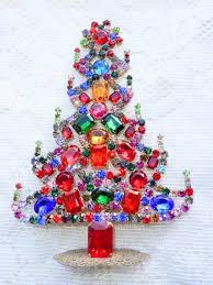 vintage czech crystal u0026 rhinestone christmas trees