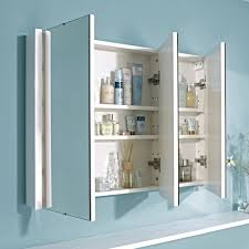premium 900mm stylish 3 door bathroom mirror cabinet with gloss