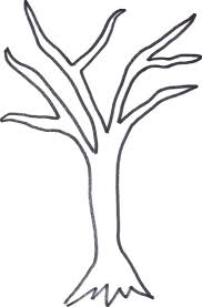 fall tree coloring page coloring pages tree without leaves dead