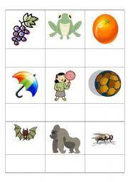 english worksheets g o u l f b picture sound match jolly phonics