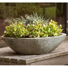 indoor planters stunning small concrete bowl planter painted