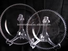 wedding plates for sale wholesale gold silver rimmed clear glass charger plates for