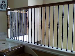 Wooden Banister Spindles How To Install Iron Stair Balusters Trendy Iron Stair Balusters