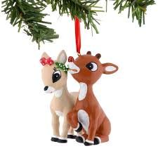 rudolph the nosed reindeer and clarice ornament sears