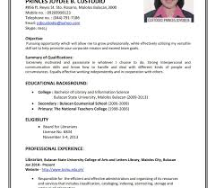 resume format in word resume format sles curriculum vitae slespdf for freshers