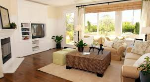 Ideas For Curtains In Living Room Modern Black Fabric Sofa And Black Wooden Rectangular Coffee Table