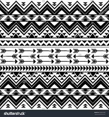 seamless boho chic pattern aztec elements stock vector 393533380