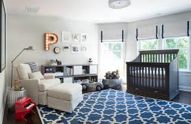 Theme Wall Tile Modern Bedroom Other Metro By by Crib Bumpers In Nursery Contemporary With Hanging Rug Next To