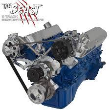 electric jeep conversion ford serpentine brackets u0026 pulley kit 289 302 u0026 351w electric