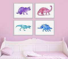 dinosaur print set girls room decor girls wall art baby zoom