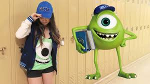 Monster Inc Halloween Costumes Diy Mike Wazowski Monsters University Costume No Sew Halloween