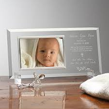 engraved glass personalized christening picture frames