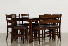 8 piece dining room set rocco 8 piece extension counter set living spaces