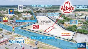 Kissimmee Florida Map by Arby U0027s Retail Development Site 7551 W Irlo Bronson Memorial