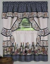 Kitchen Curtains With Grapes by Cottage Cafe Tier Curtains Ebay