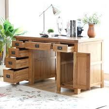 Solid Wood Computer Desk Office Desk Oak Office Desk Effect Dark Home Solid Wood Desks