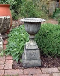 Large Planter Pot by Modena 30 Stone Vase Plant Pot On Plinth Large Garden Planter
