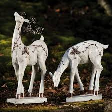 Christmas Decorations Outdoor Reindeer by Christmas Outdoor Decorations Reindeer Designcorner