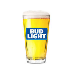 Bud Light Logo Bud Light Logo Nucleated Pint Glass The Beer Gear Storethe Beer