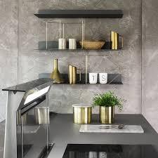 etagere murale pour cuisine étagère murale contemporaine en tôle d acier pour cuisine