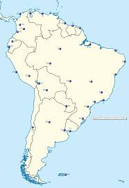 map of cities in south america south american cities map quiz