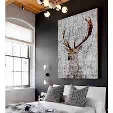 Large Artwork For Wall by Highlands Stag Canvas Art Cotton Canvas Original Artwork And