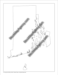 Blank Map Of Rhode Island by Stockmapagency Com Simple Outline Map Of Rhode Island Available As